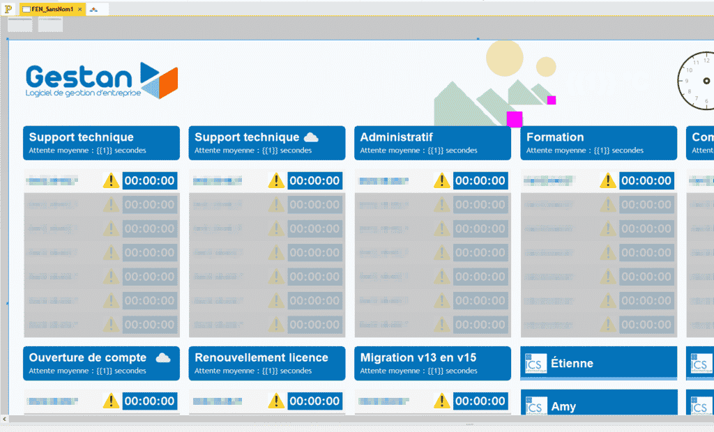 gHotline, un outil développé avec WinDev, connecté à Asterisk.